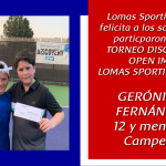 Ganadores del Torneo Discovery Open IMG